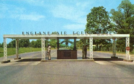 Main Gate at England Air Force Base
