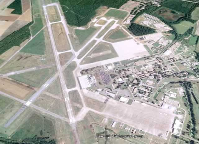 Aerial view of England Air Force Base