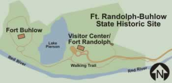Map of the Forts Buhlow and Fort Randolph State Historic Site