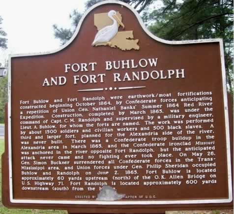 Fort Buhlow and Fort Randolph Historic Marker