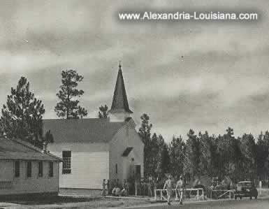 One of the many religious chapels at Camp Livingston in World War II