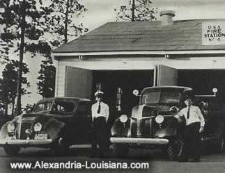 Fire Station Number 4, Camp Livingston, Louisiana during WWII