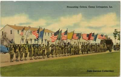 Presenting Colors at Camp Livingston, Louisiana