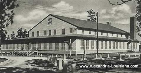 Officers Club, Camp Livingston, Louisiana during World War II
