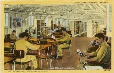 Inside the Library, Camp Livingston, Louisiana