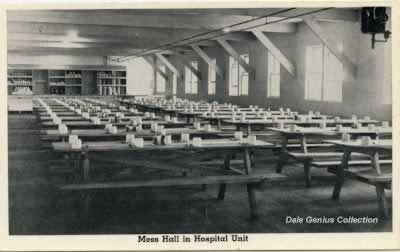 Mess Hall in the Hospital, Camp Livingston, Louisiana